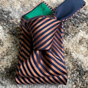 Tommy Hilfiger Orange Blues Striped Tie